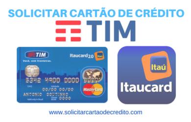 solicitar cartão de crédito TIM ITAUCARD