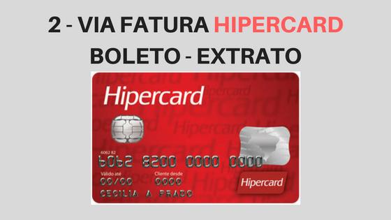 2ª VIA FATURA HIPERCARD - BOLETO E EXTRATO