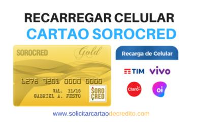 Crédito no Celular com Cartão Sorocred