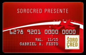 Cartão Presente Sorocred