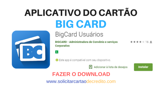 APP CARTÃO BIG CARD DOWNLOAD