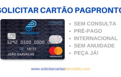 SOLICITAR CARTÃO PAGPRONTO