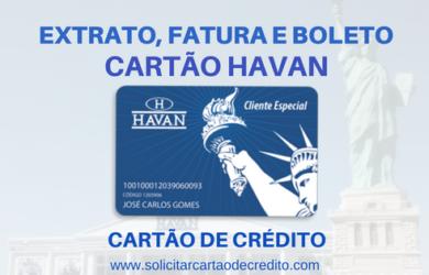 EXTRATO FATURA BOLETO CARTÃO HAVAN
