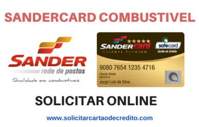 SOLICITAR CARTÃO DE CREDITO COMBUSTÍVEL SANDERCARD