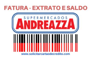 fatura extrato saldo cartão andreazza tricard online