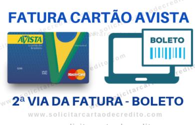 FATURA CARTÃO AVISTA - BOLETO EXTRATO 2ª VIA