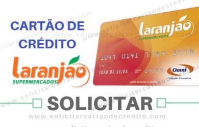 SOLICITAR CARTÃO DE CRÉDITO LARANJÃO