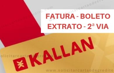 FATURA EXTRATO E BOLETO KALLAN CARD