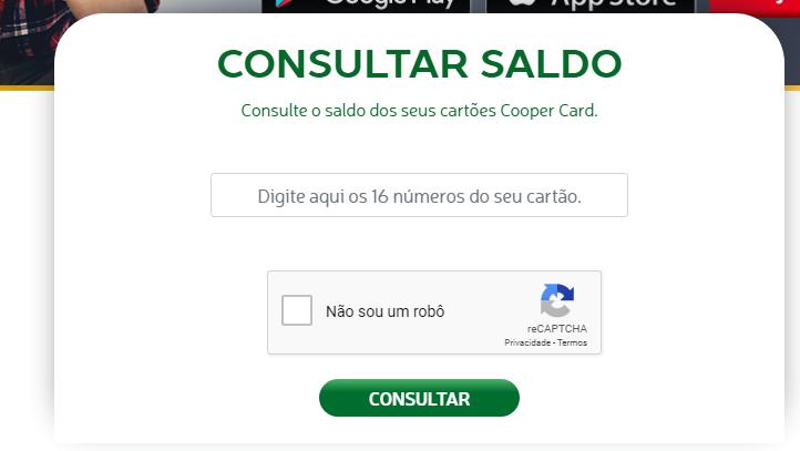 Consulte o Saldo e Limite do Cartão Cooper Card