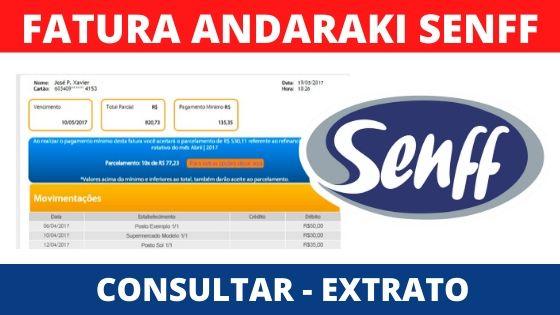 fatura extrato e boleto andaraki
