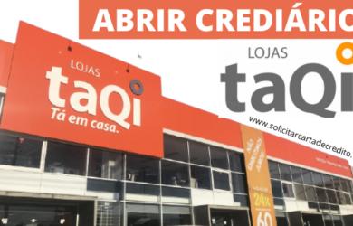 abrir crediario lojas taqi