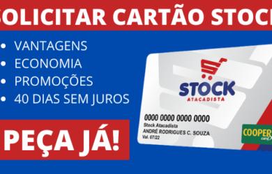 SOLICITAR CARTÃO STOCK ATACADISTA