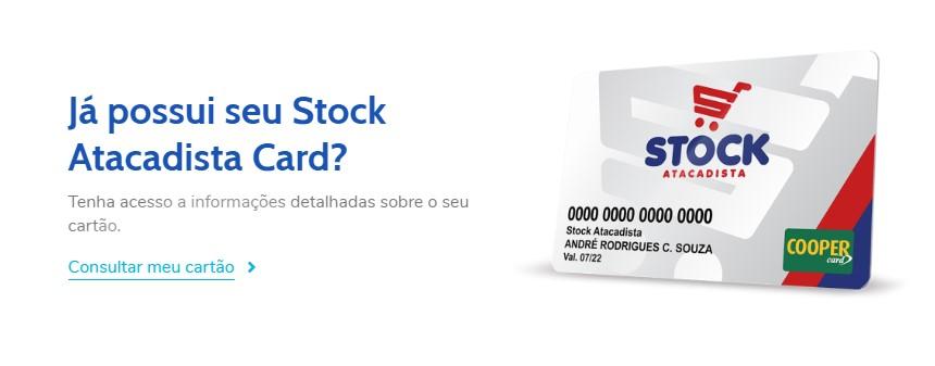 Cosultar Fatura do cartão Stock Atacadista